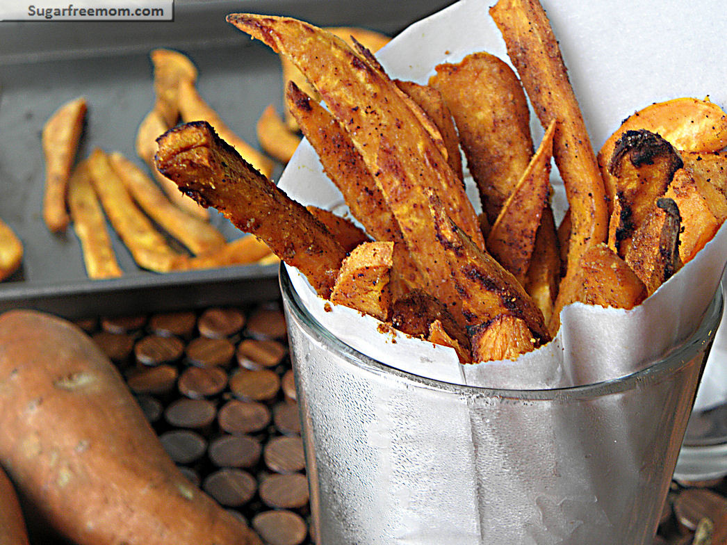 Grilled Sweet Potato Fries  Healthy Baked Sweet Potato Fries