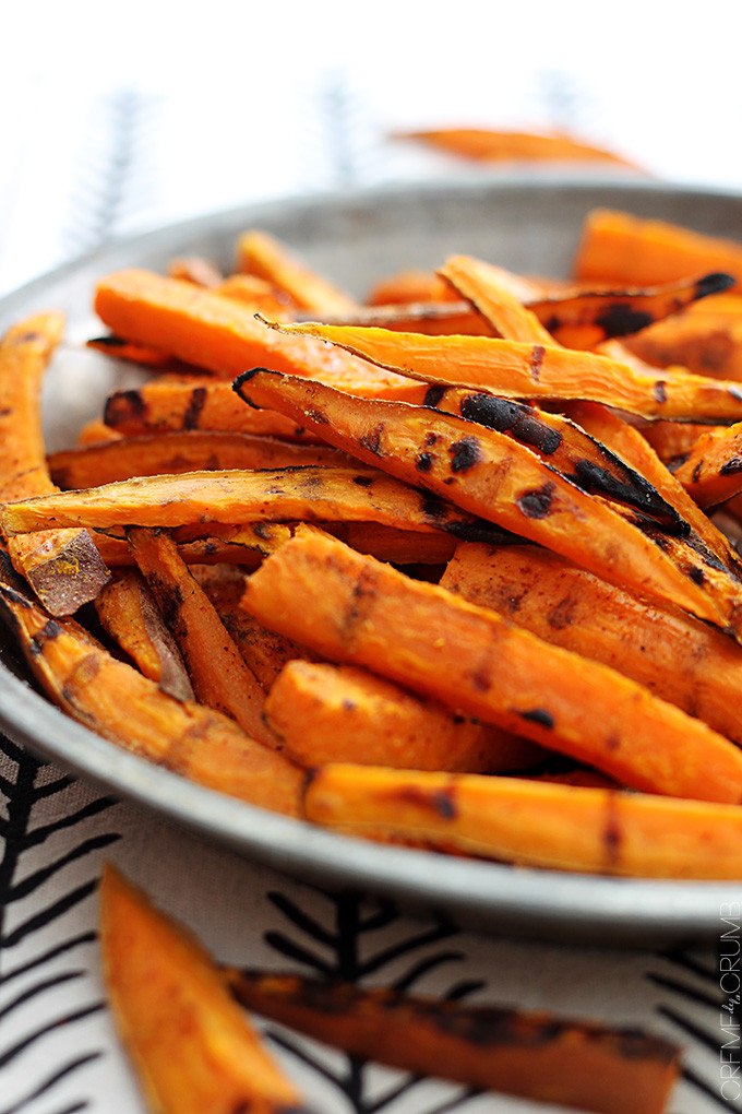 Grilled Sweet Potato Fries  Spicy Grilled Sweet Potato Fries