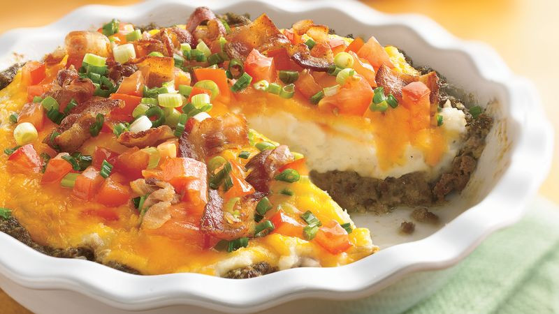 Ground Beef And Potato Recipes  Ground Beef and Twice Baked Potato Pie Recipe Pillsbury