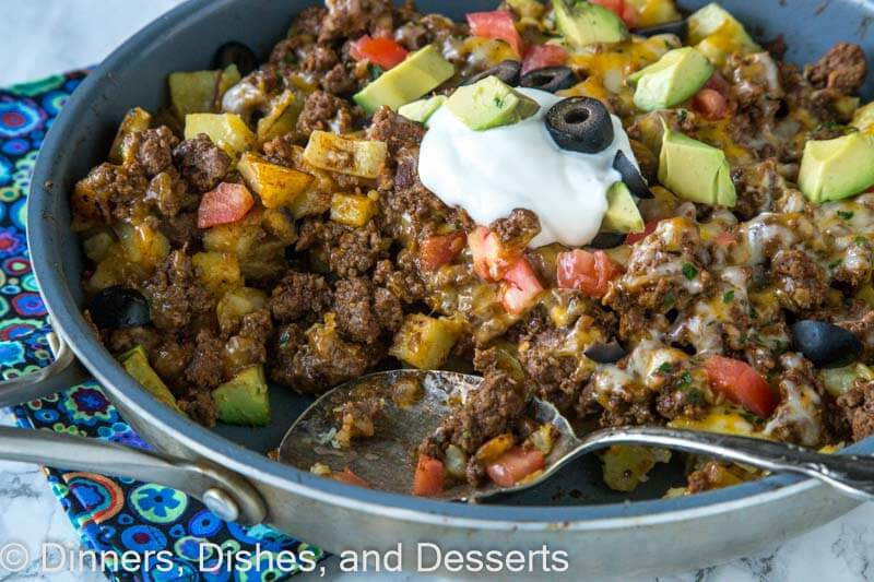 Ground Beef And Potato Recipes  mexican ground beef and potatoes
