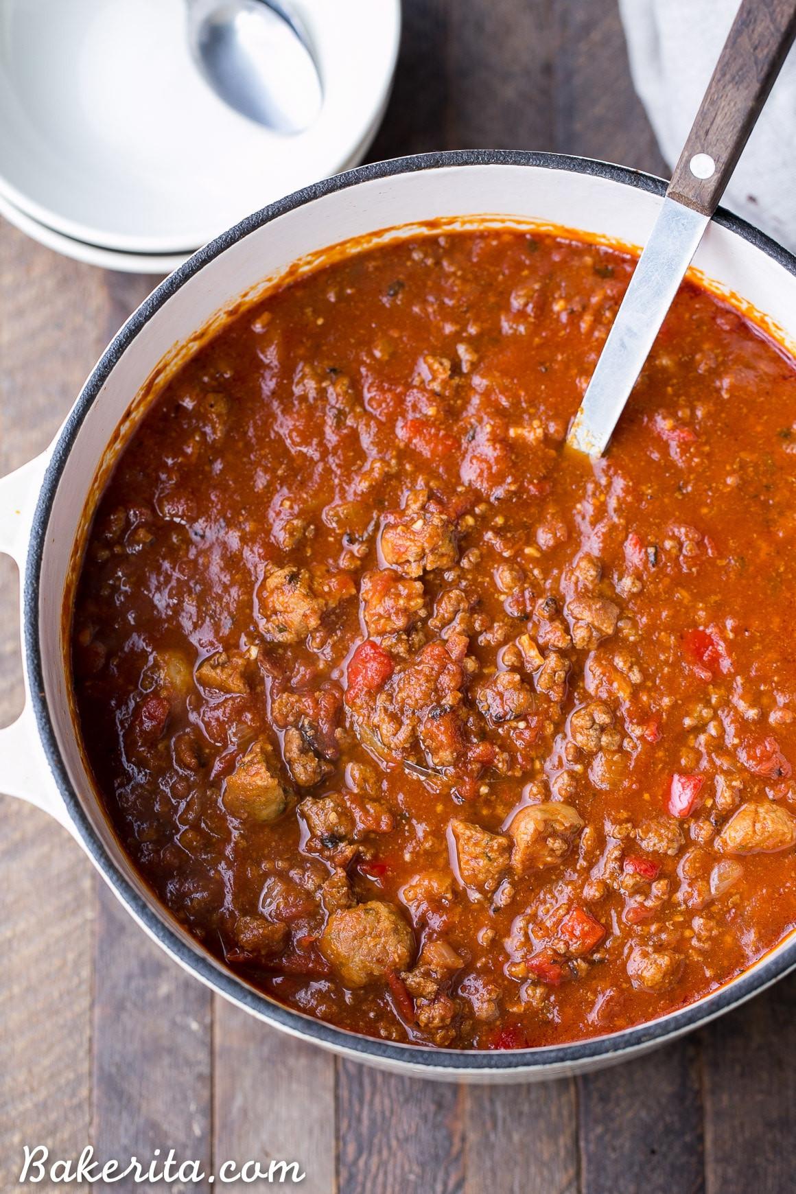 Ground Beef Chili Recipes  Paleo Chili Bakerita