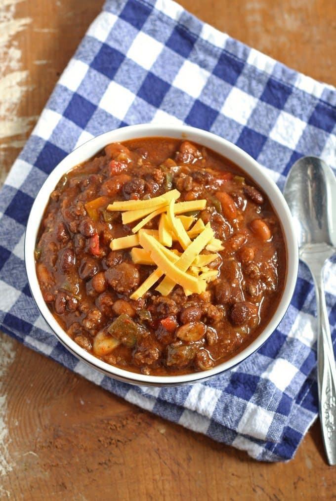 Ground Beef Chili Recipes  Slow Cooker Ground Beef and Chorizo Chili