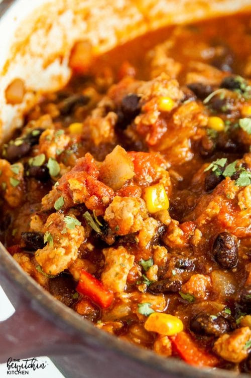 Ground Chicken Chili  Clean Eating Chicken Chili with Video