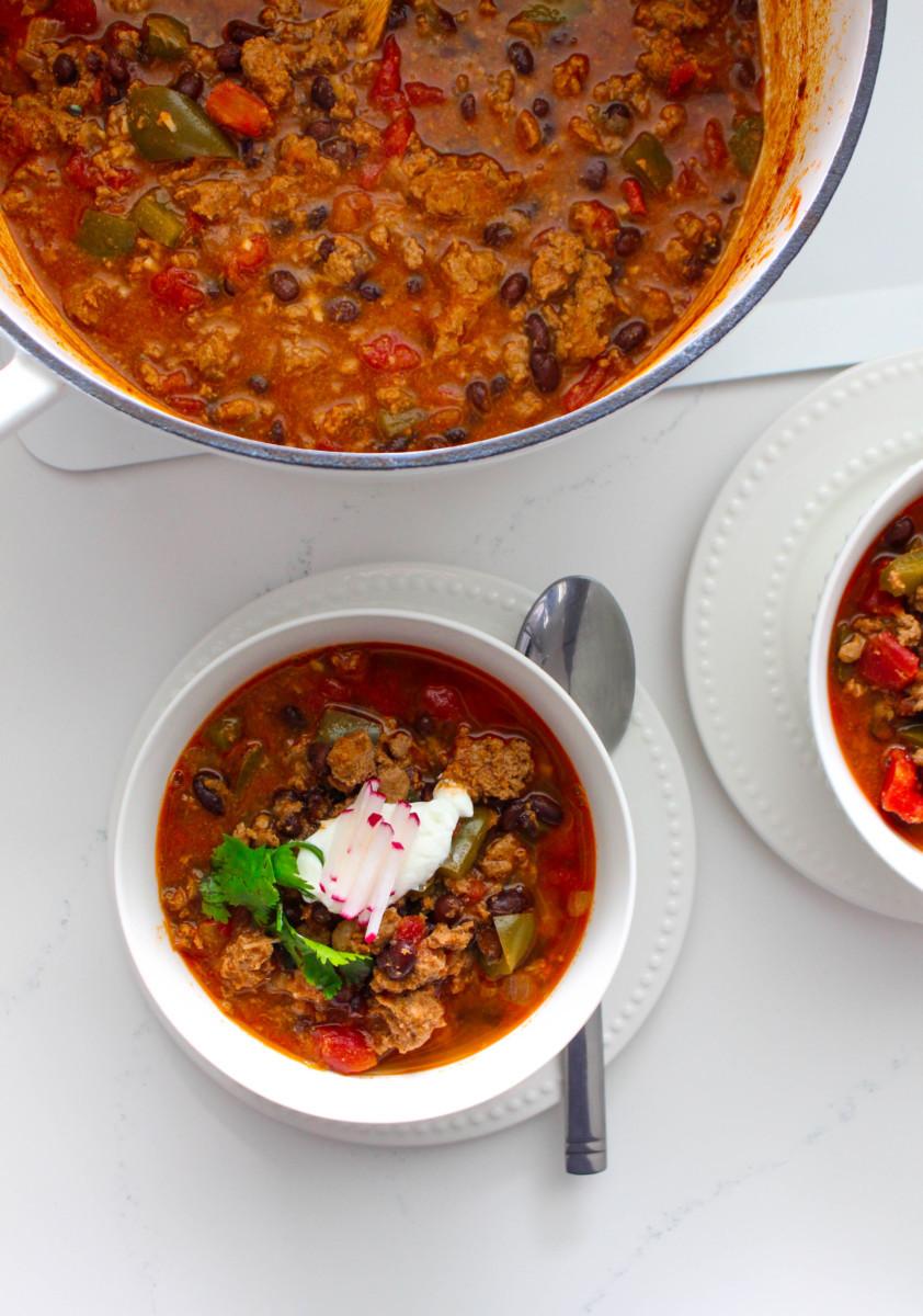 Ground Chicken Chili  Black Bean and Ground Chicken Chili foodbyjonister