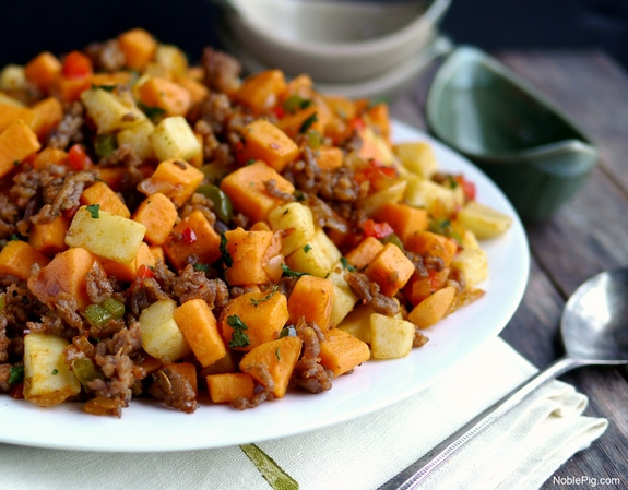Ground Sausage Dinner Recipes  Sausage and Sweet Potato Hash VIDEO