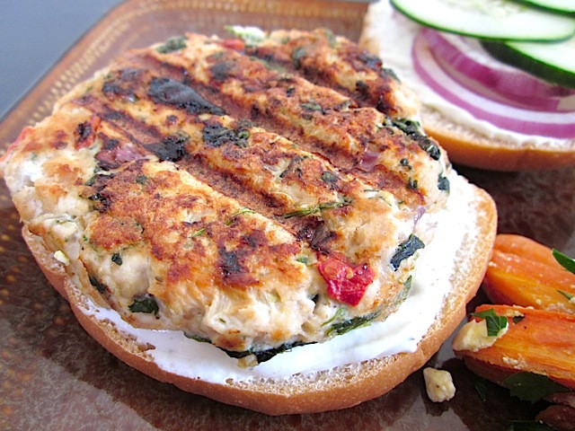 Ground Turkey Burger Recipes  Greek Turkey Burgers Bud Bytes