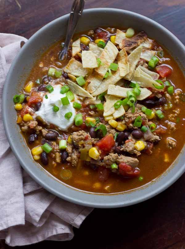 Ground Turkey Calories  taco soup with ground turkey calories