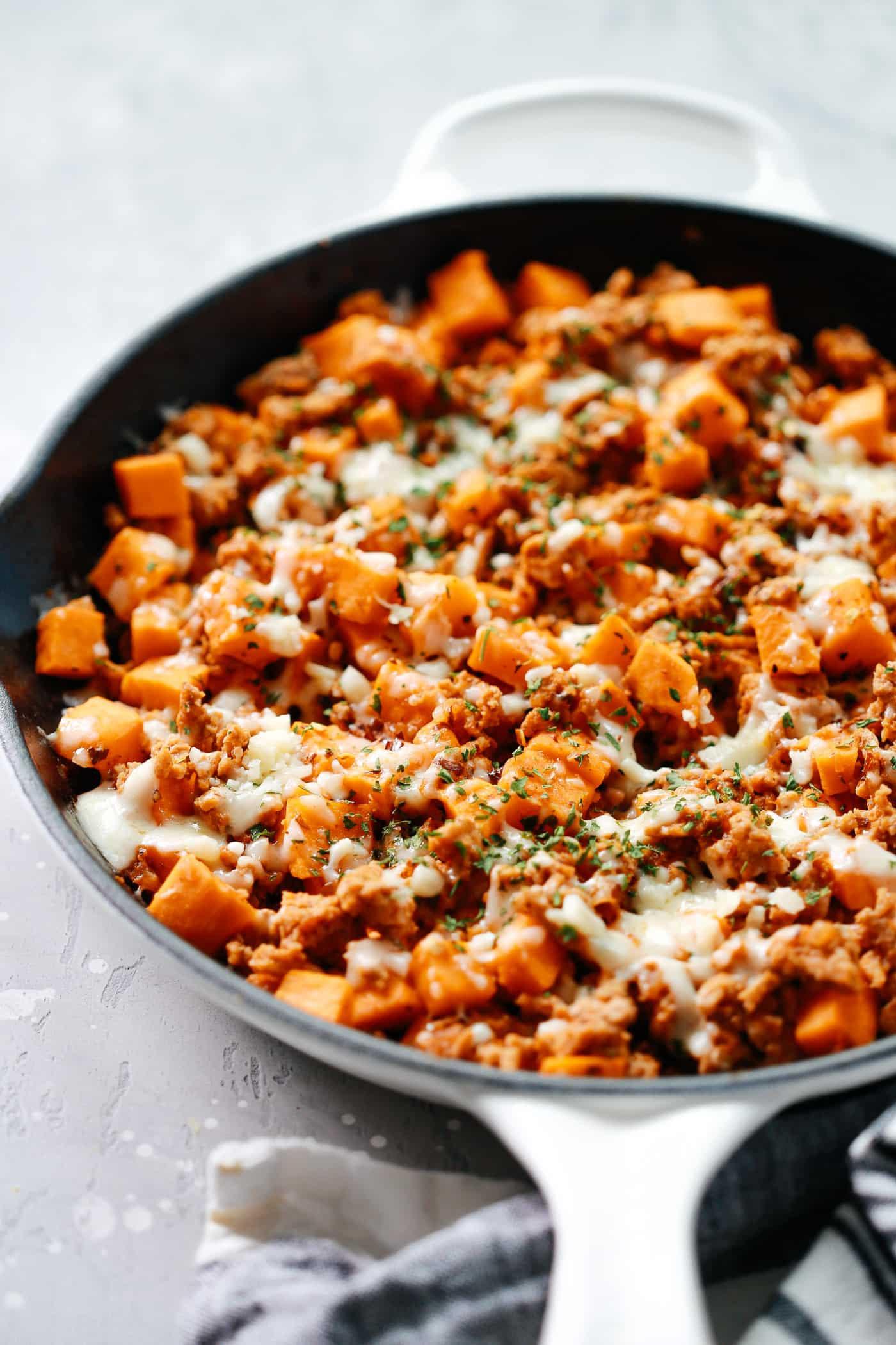 Ground Turkey Calories  Ground Turkey Sweet Potato Skillet Delicious e Pan