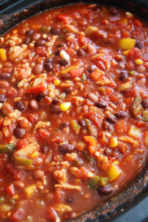 Ground Turkey Chili Recipe  Slow Cooker Turkey Chili Healthy