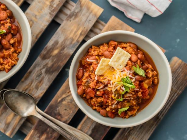 Ground Turkey Chili Recipe  Award Winning Chili Recipes Genius Kitchen