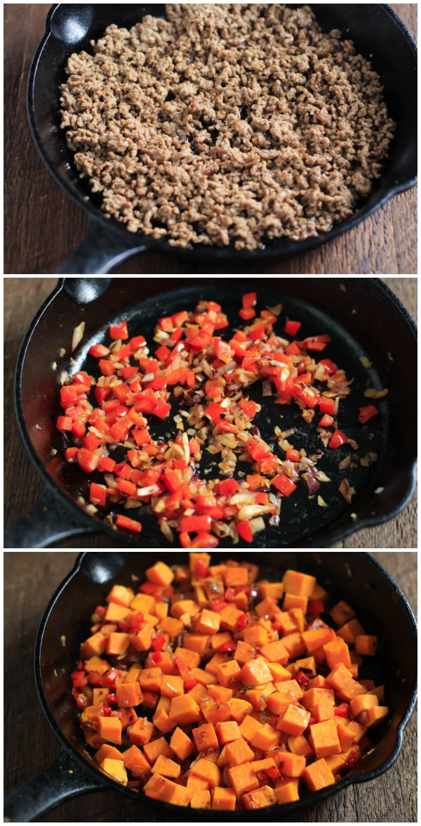 Ground Turkey Meal Prep  Ground Beef Zucchini Sweet Potato Skillet Meal Prep