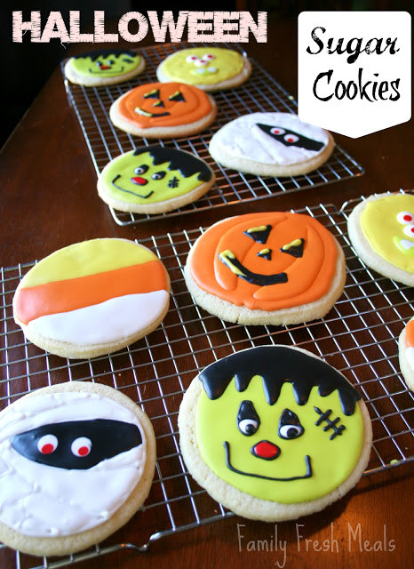 Halloween Sugar Cookies  Soft Sugar Cookie Recipe Halloween Style Family Fresh Meals