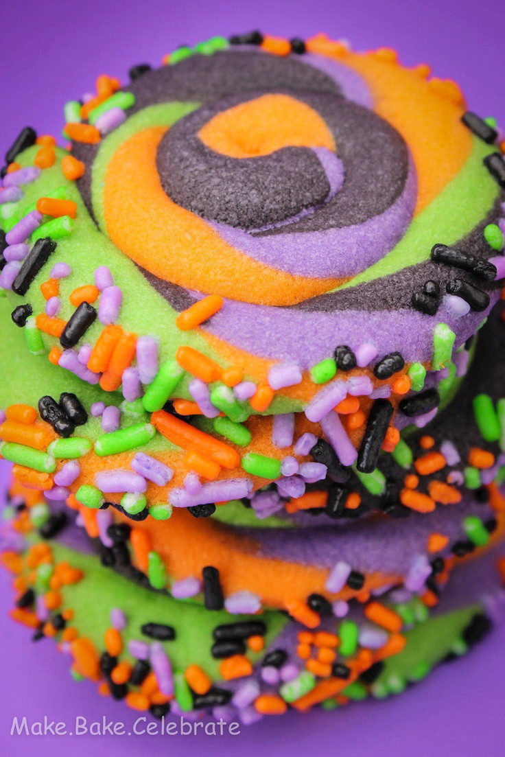Halloween Sugar Cookies  Swirly Halloween Cookies Treat – Best Cheap Easy Party Kid