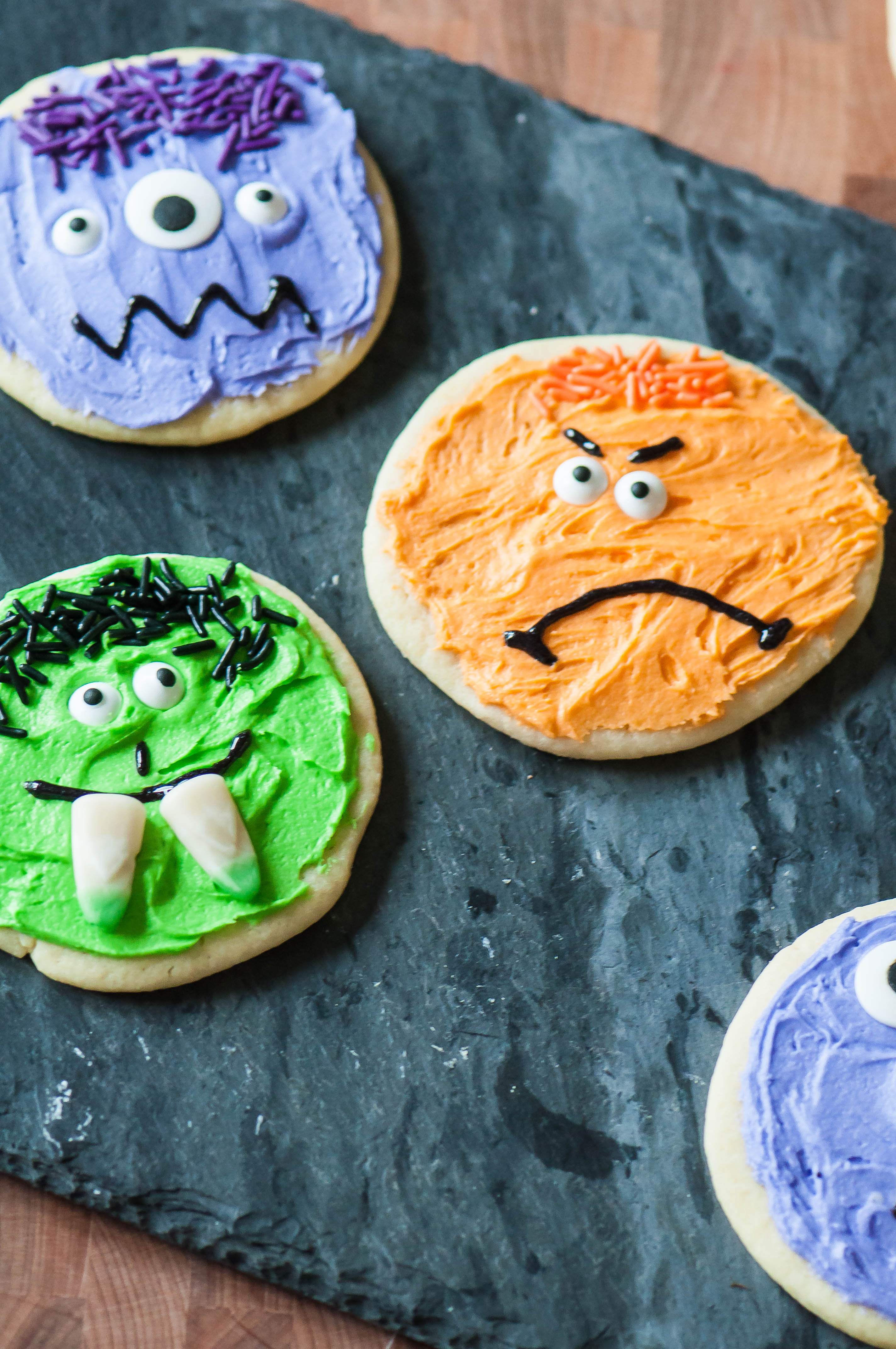 Halloween Sugar Cookies  Halloween Monster Sugar Cookies Meg s Everyday Indulgence