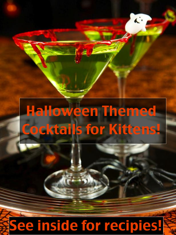 Halloween Themed Drinks  Halloween themed cocktails for kittens – The Chateau