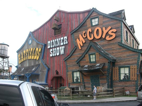 Hatfield Mccoy Dinner Show  Story line is a musical feud Picture of Hatfield