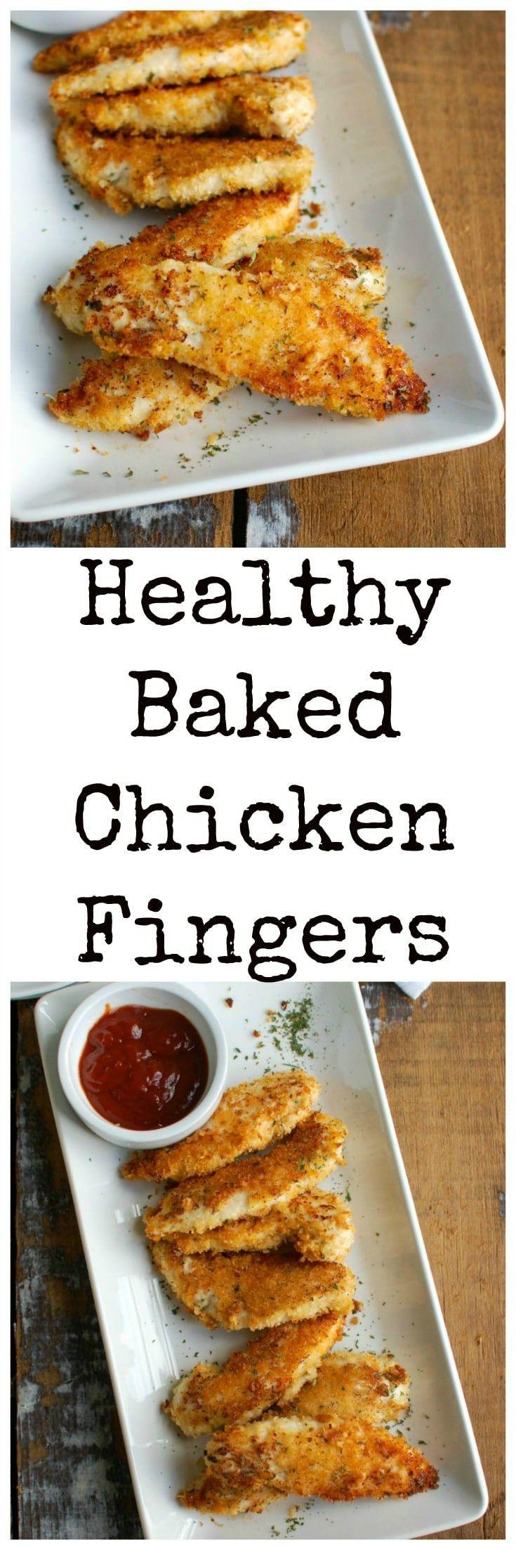 Healthy Baked Chicken Tenders  25 bästa Chicken finger recipes idéerna på Pinterest