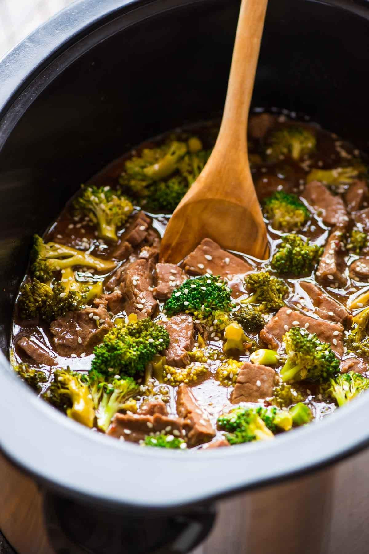 Healthy Beef And Broccoli  Slow Cooker Beef and Broccoli