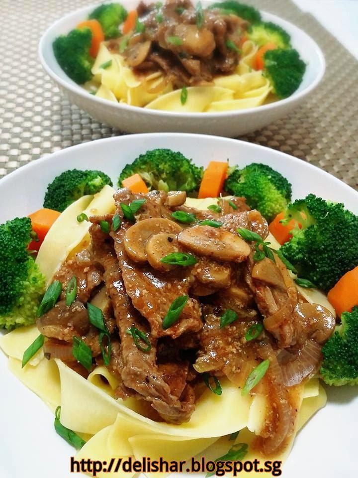 Healthy Beef Stroganoff  Healthier Beef Stroganoff