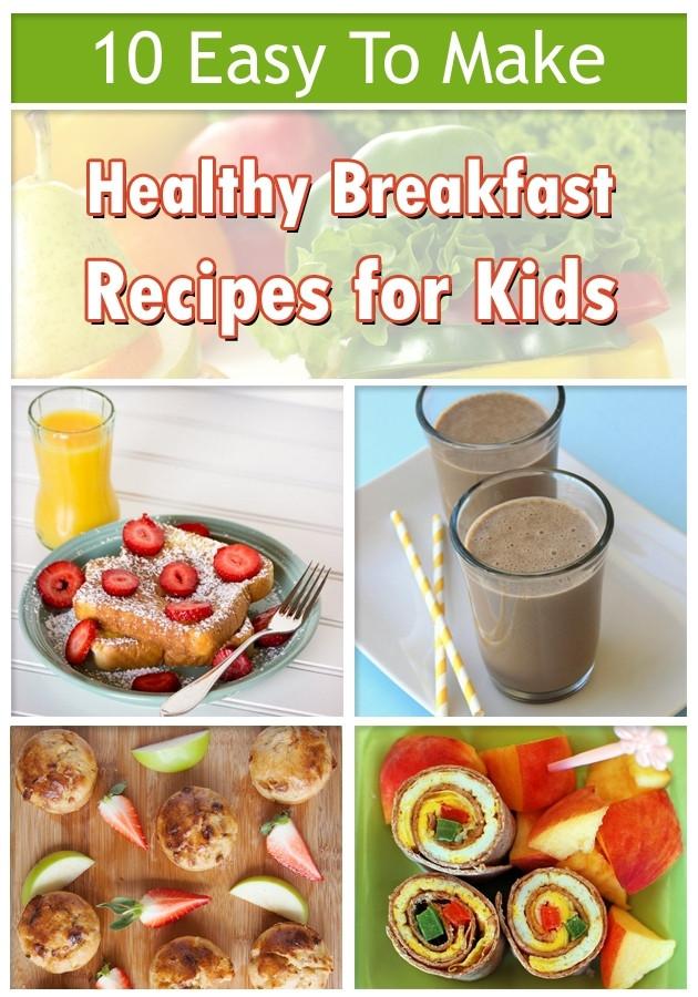 Healthy Breakfast Menu  Breakfast Menu Ideas For Kids