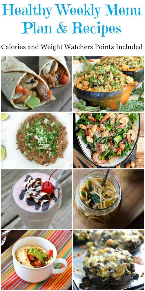 Healthy Breakfast Menu  Healthy Weekly Menu Plan Recipes Week 1 Food Done Light