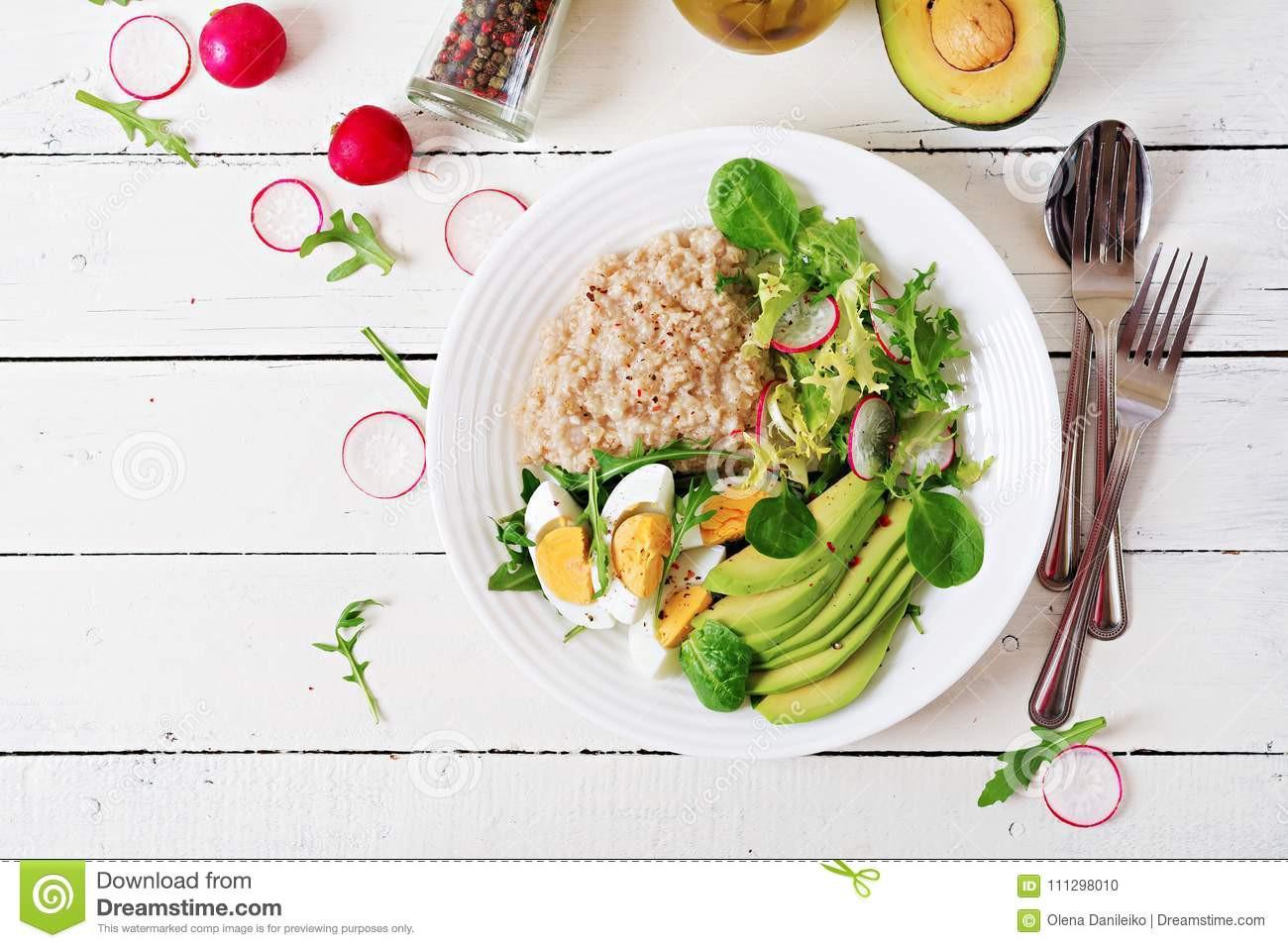 Healthy Breakfast Menu  Healthy Breakfast Dietary Menu Oatmeal Porridge And