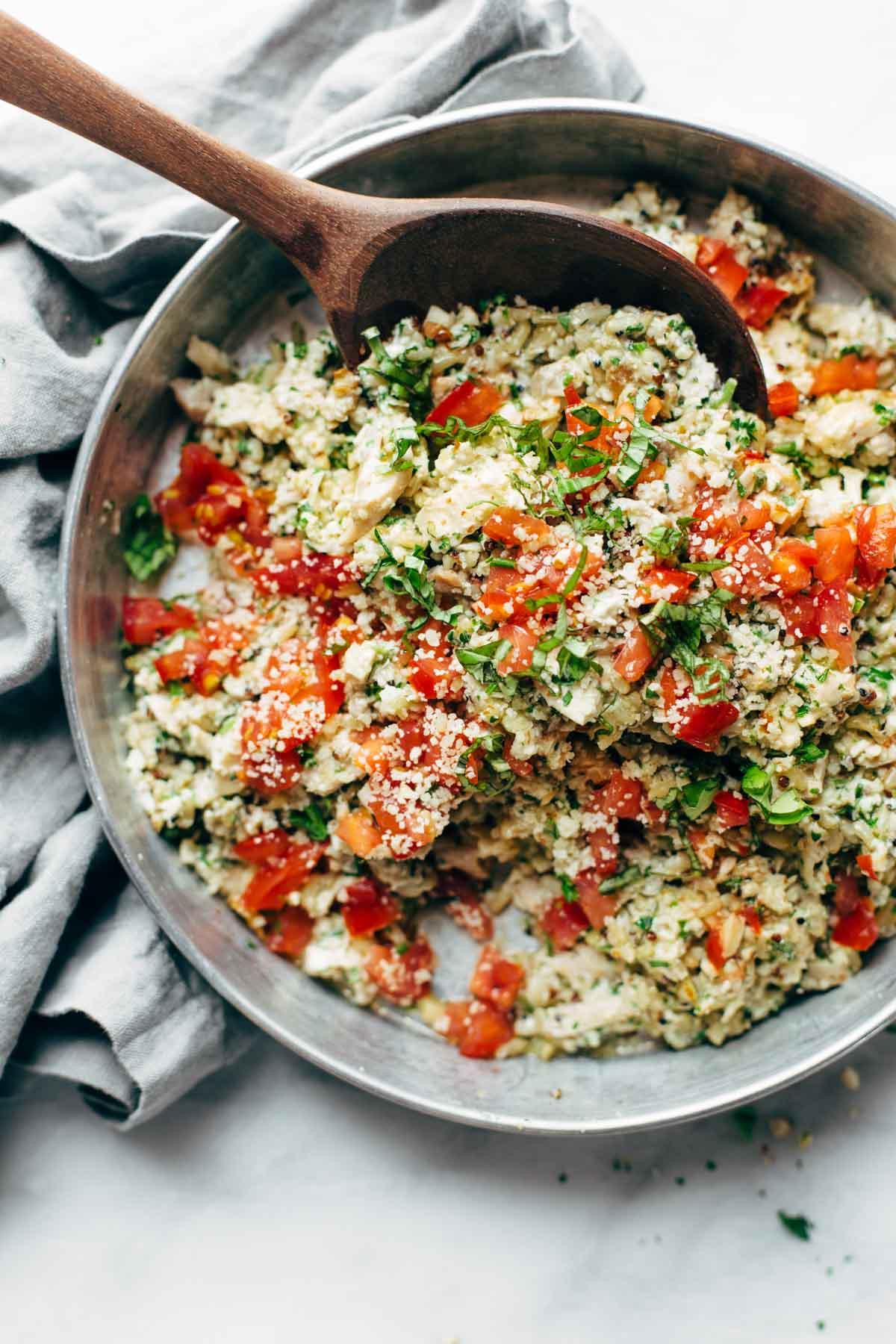 Healthy Chicken Salad Recipe  Healthy Garlic Herb Chicken Salad Recipe Pinch of Yum