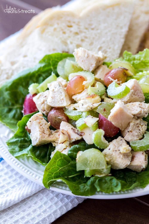 Healthy Chicken Salad Recipe  Light and Healthy Chicken Salad Recipe Julie s Eats & Treats