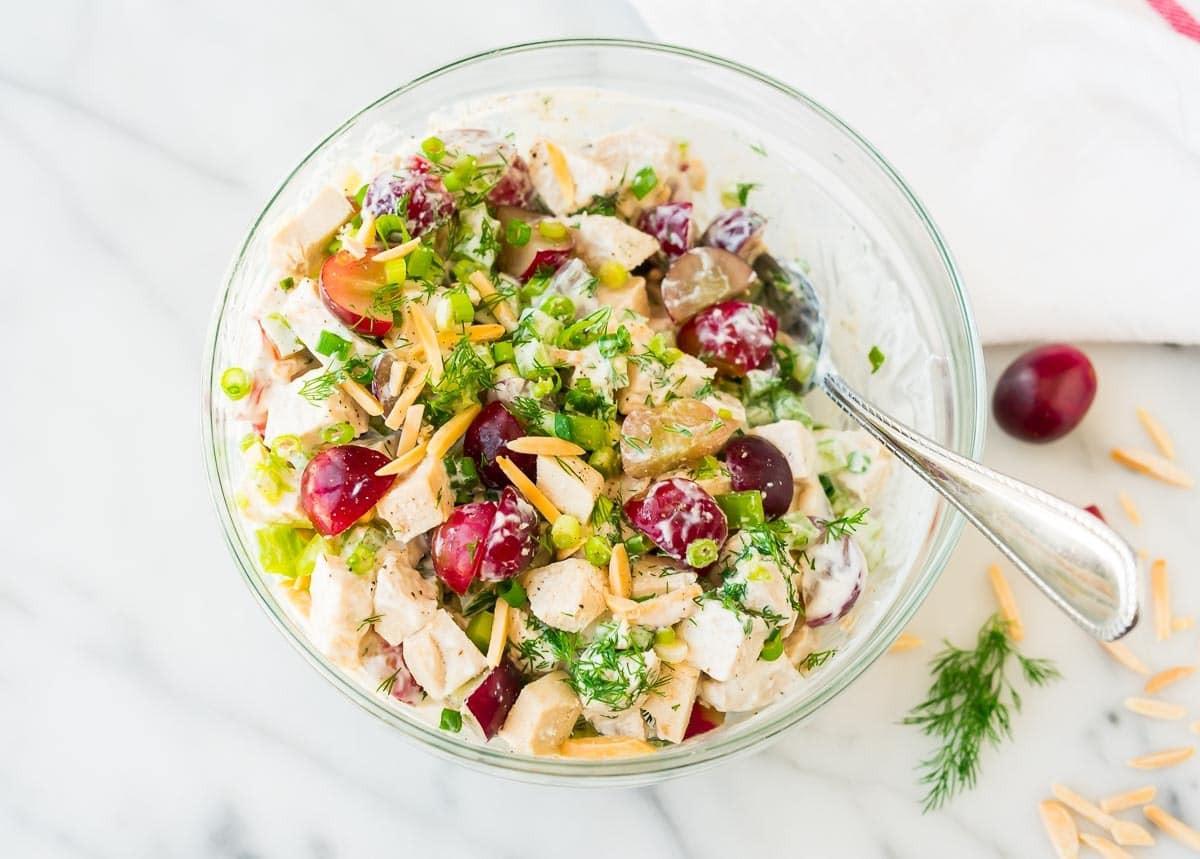 Healthy Chicken Salad Recipe  Greek Yogurt Chicken Salad with Dill