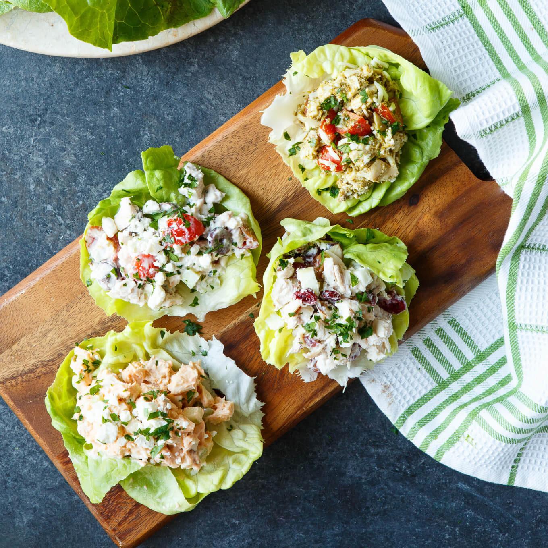 Healthy Chicken Salad Recipe  Four Healthy Chicken Salad Lettuce Wraps d Appetite