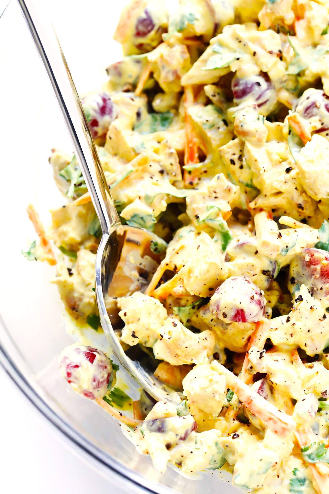 Healthy Chicken Salad Recipe  Healthy Curry Chicken Salad