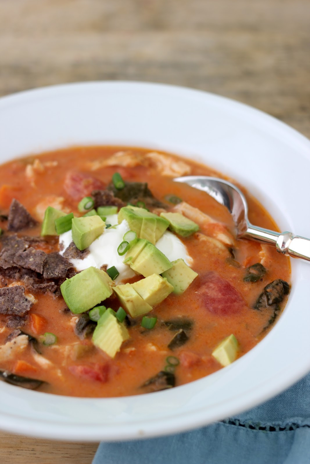 Healthy Chicken Tortilla Soup  Jenny Steffens Hobick Chicken Tortilla Soup
