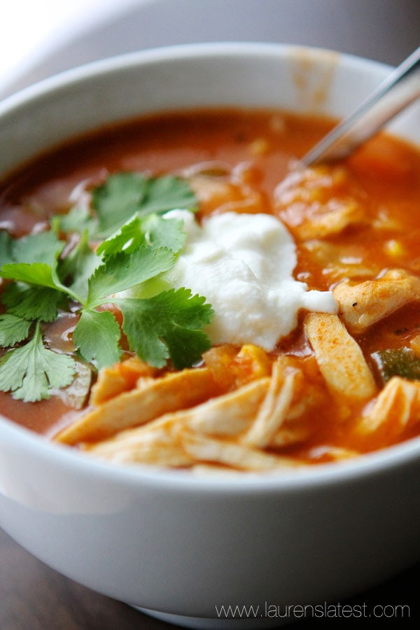 Healthy Chicken Tortilla Soup  Easy Chicken Tortilla Soup Lauren s Latest