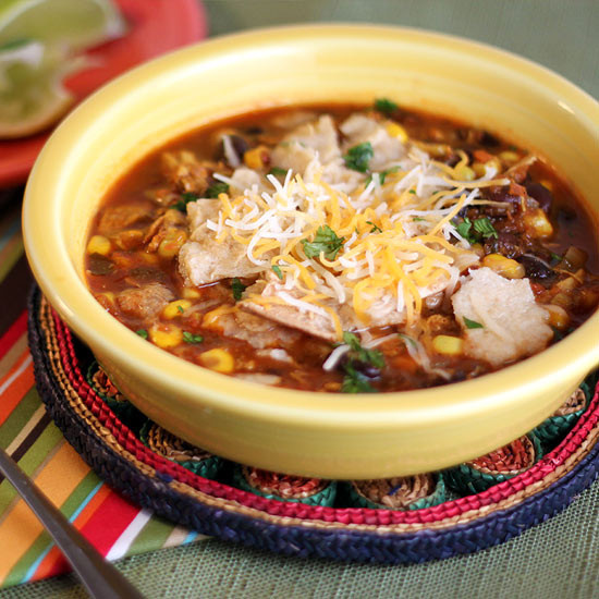 Healthy Chicken Tortilla Soup  Healthy Chicken Tortilla Soup