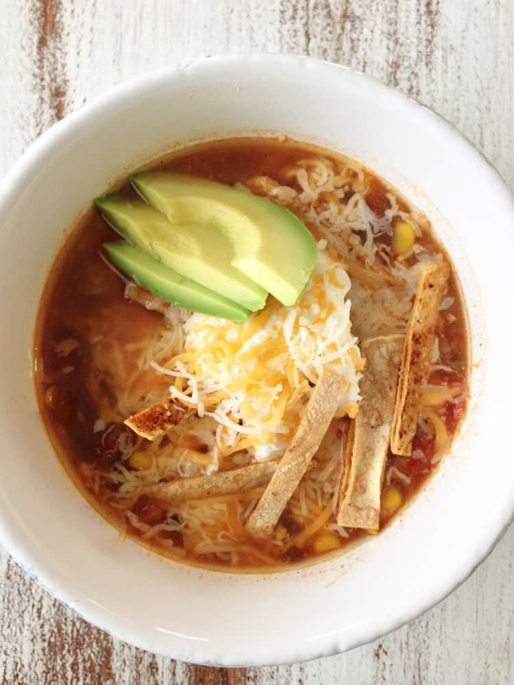 Healthy Chicken Tortilla Soup  The 15 Best Healthy Crock Pot Recipes Snacking in Sneakers