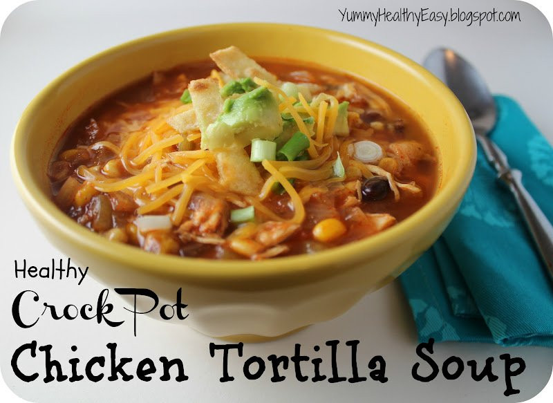 Healthy Chicken Tortilla Soup  15 Most Popular Healthy Crock Pot Recipes