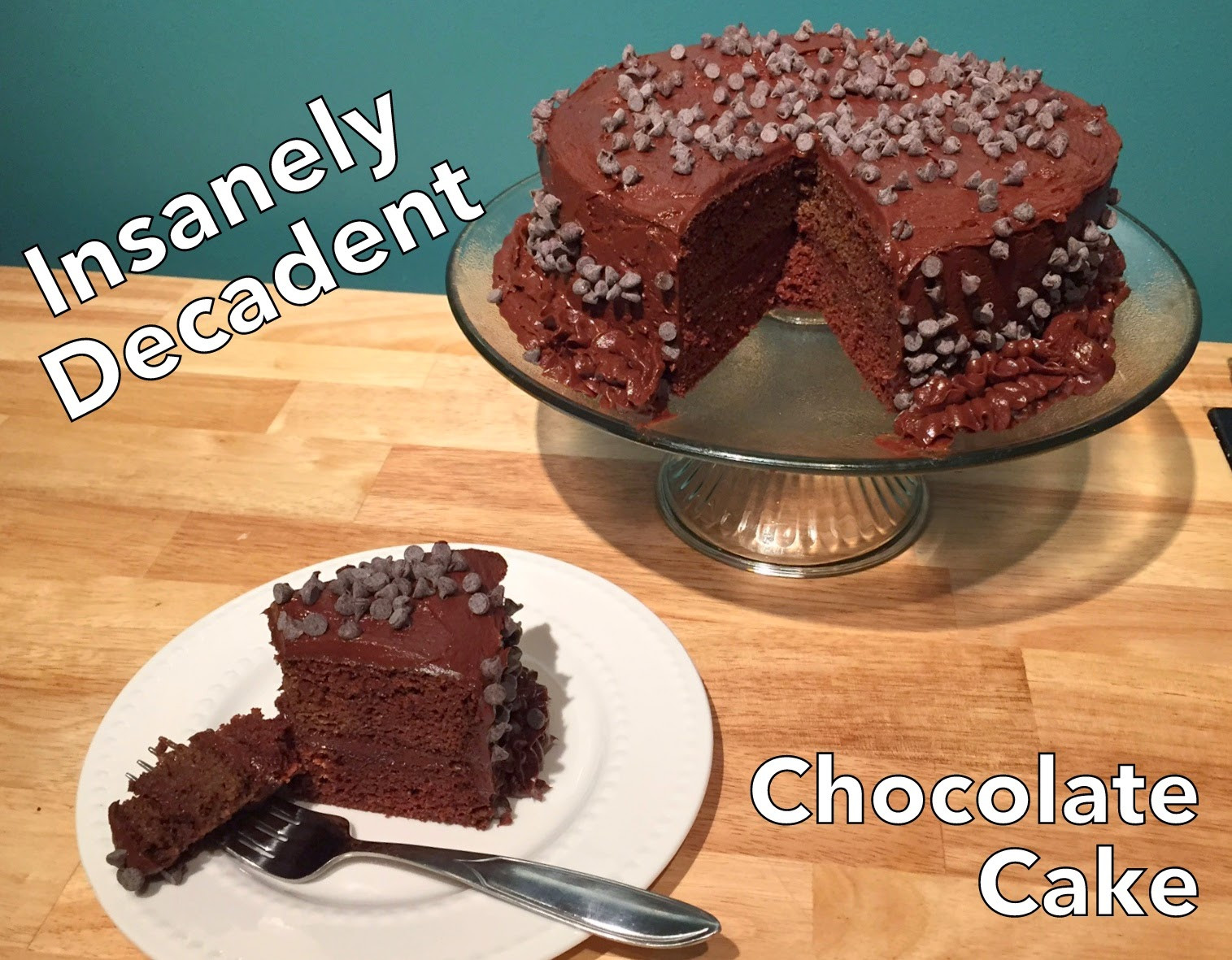 Healthy Chocolate Cake  Cut the Wheat Insanely Decadent Healthy Chocolate Cake