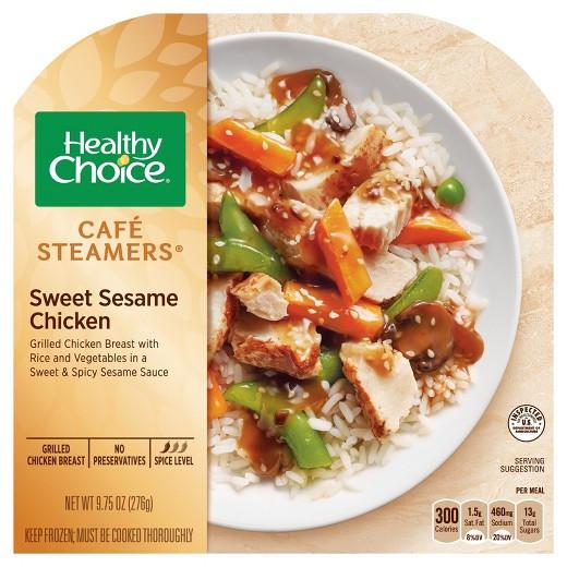 Healthy Choice Dinners  Healthy Choice Café Steamers Sweet Sesame Chicken 10 3