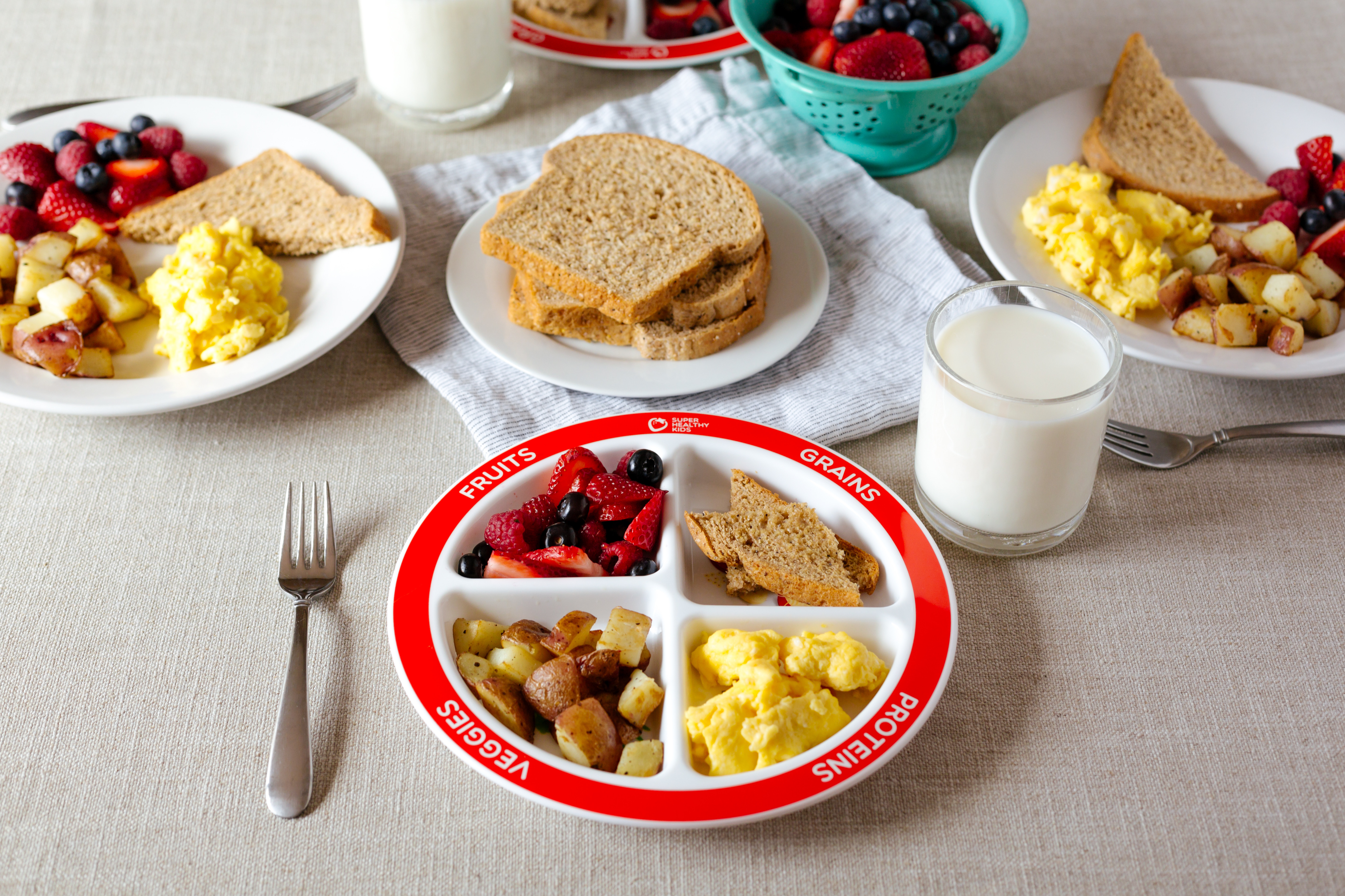 Healthy Foods For Breakfast  Healthy Balanced Breakfast with MyPlate