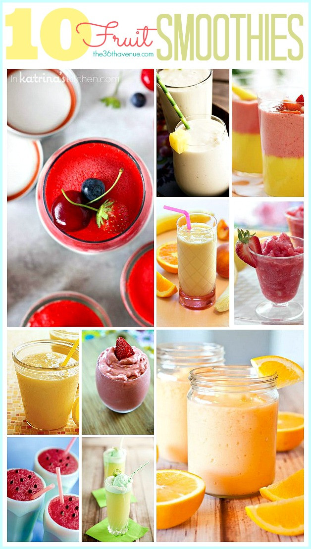 Healthy Fruit Smoothie Recipes  10 Delicious Smoothie Recipes The 36th AVENUE