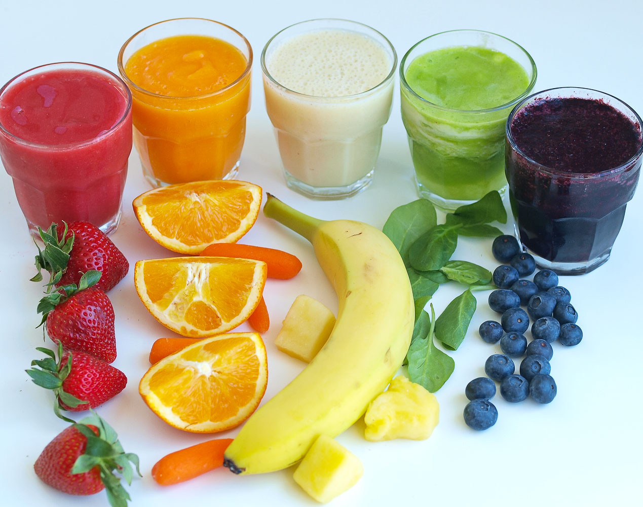 Healthy Fruit Smoothies  Rainbow Smoothies A Tasting Activity for Kids Happy