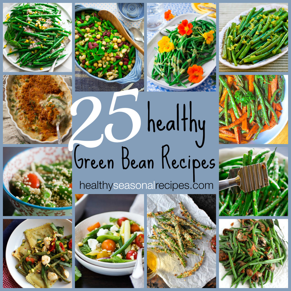 Healthy Green Bean Recipes  roasted green beans with almonds and thyme Healthy