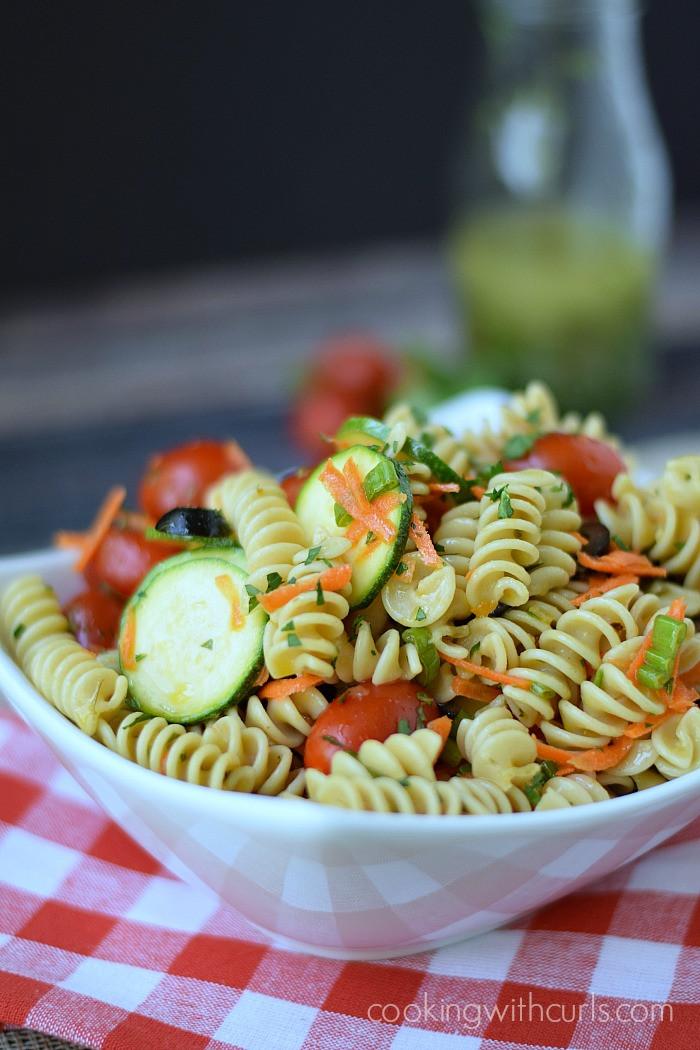 Healthy Italian Recipes  Healthy Italian Pasta Salad Cooking With Curls