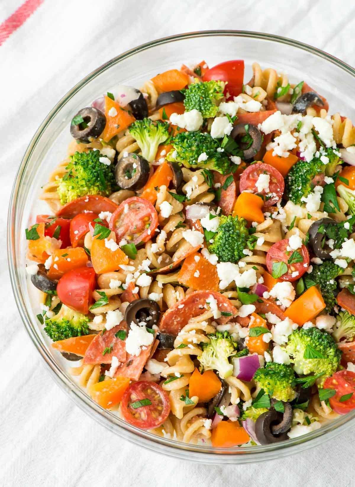 Healthy Italian Recipes  Healthy Pepperoni Pasta Salad