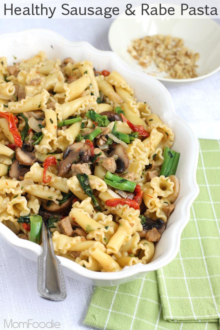 Healthy Italian Recipes  Broccoli Rabe and Sausage Pasta Healthy Campanelle Pasta