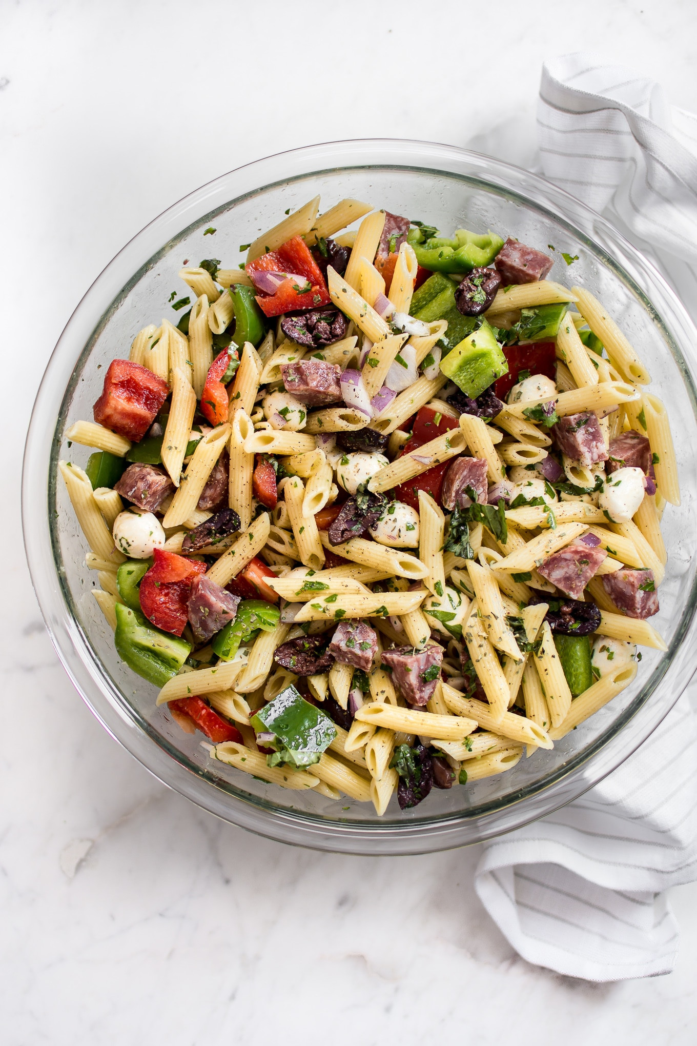 Healthy Italian Recipes  Easy Italian Pasta Salad Recipe • Salt & Lavender