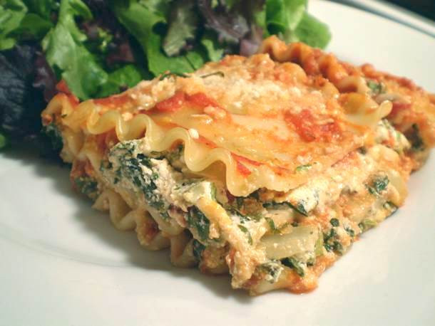 Healthy Lasagna Recipe  Healthy & Delicious Lighter Spinach Lasagna Recipe