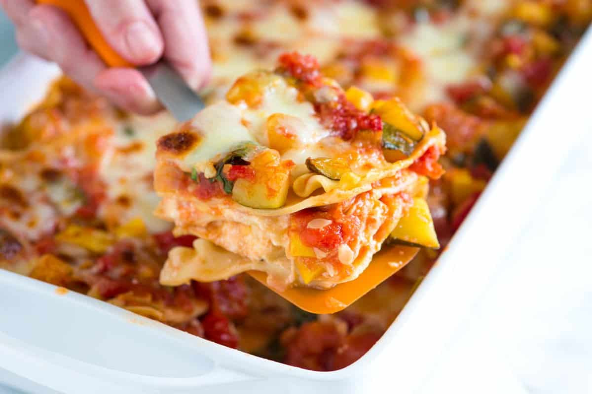 Healthy Lasagna Recipe  healthy ve able lasagna