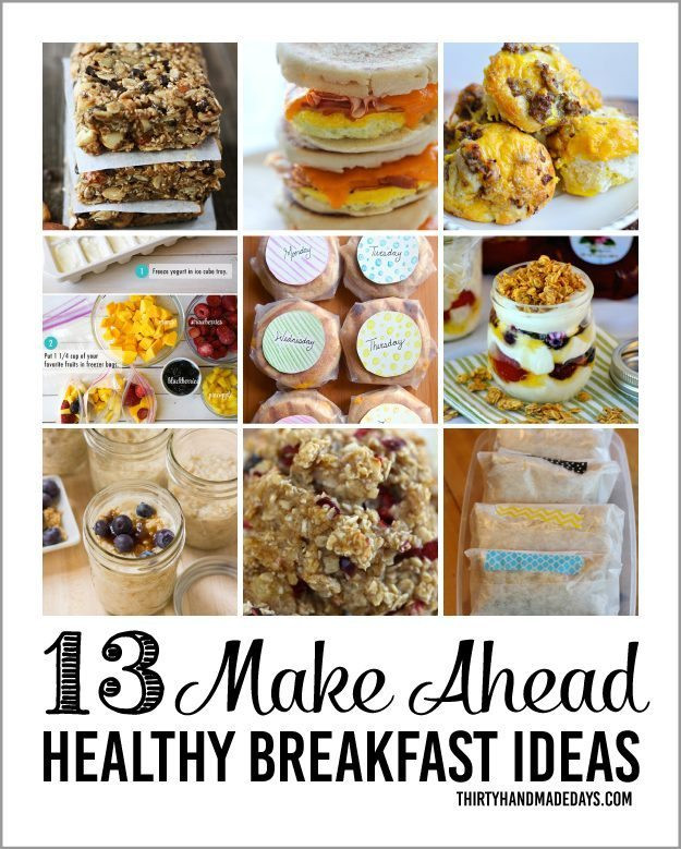 Healthy Make Ahead Breakfast Recipes  Healthy Make Ahead Breakfasts