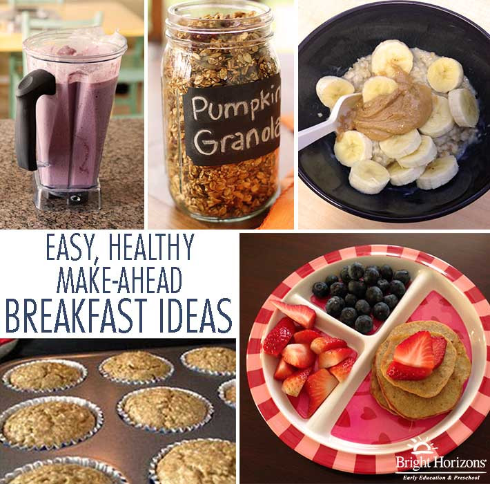 Healthy Make Ahead Breakfast Recipes  Easy Healthy Make Ahead Breakfast Ideas